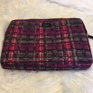 Pink/purple plaid laptop case